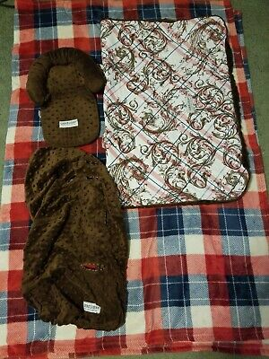 Carseat Canopy Cover 3 Piece Set EUC
