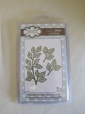 NEW! CREATIVE EXPRESSIONS Craft Die Sue Wilson MOSAIC LEAVES
