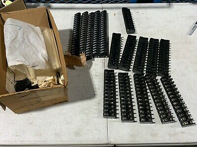 Lot of 16 Terminal Blocks from GE &?, 151B213A Ten 13 Port and others, NOS