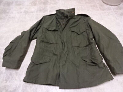 By Alpha Vintage U.s Army After Vietnam M65 Jacket Good Cond Not Much Used 1976