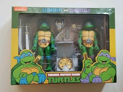 "TMNT Teenage Mutant Ninja Turtles NECA 7"" Action Figures Leonardo and Donatello"