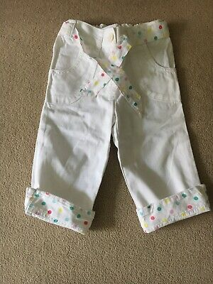 Next Girls Age 3-4 Cropped White Trousers
