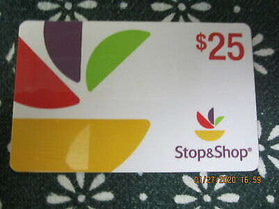 $25 STOP & SHOP GROCERY STORE  trade collect NO VALUE GIFT CARD 8