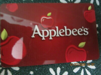 RED  APPLEBEE'S  trade collect NO VALUE GIFT CARD 9