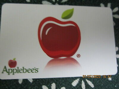WHITE  APPLEBEE'S  trade collect NO VALUE GIFT CARD 9