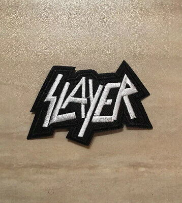 "SLAYER band PATCH - 3.25"" Iron-on Metal Music Embroidered Slayer Rock Patches"