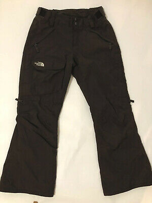 North Face Hyvent Women's Insulated Snow Pants Brown Ski Snowboard Winter Small