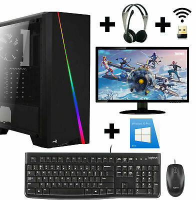 Gamer PC Komplett-Set AMD A8 9600 Radeon R7 Grafik 8GB DDR4 1TB Win10 Prof.