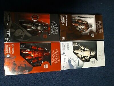 NEW Star Wars Black series carbonized lot COMPLETE