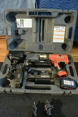 """Ridgid RP210 PressFrame Set With 1/2"""" 7/8"""" and 1-5/8"""""""