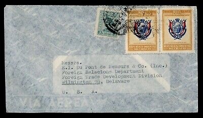 Dr Who Uruguay To Usa Pair Air Mail C162365
