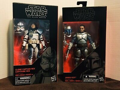 Star Wars Black Series JangoFett And  Captain Rex.