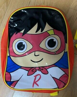 Ryan's World 12 inches Toddler/Youth Character Backpack Red