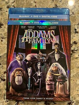 NEW - THE ADDAMS FAMILY [Blu-ray + DVD] [2019] W/SLIPCOVER NO DIGITAL