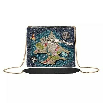 Mary Frances Never Neverland Disney Map Winter Peter Pan Boat Ship Blue Bag New