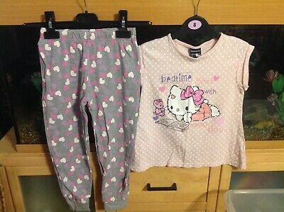 Girls Hello Kitty Pyjama Set Age 6/7 Years From George