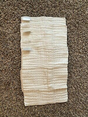 5 Econobum Cloth Diaper Prefolds - 11 X 15 - Excellent Condition
