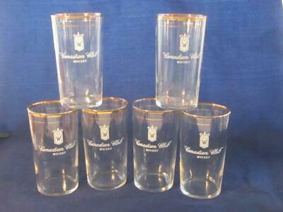 Vintage Candian Club Whiskey Cocktail Glass Tumblers (6)