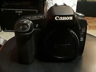 Canon EOS 30D  Digital SLR Camera - Black with end caps and battery
