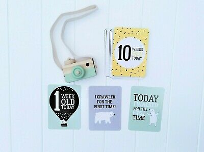 Baby Milestone Cards, 31 cards, baby shower present, new baby present
