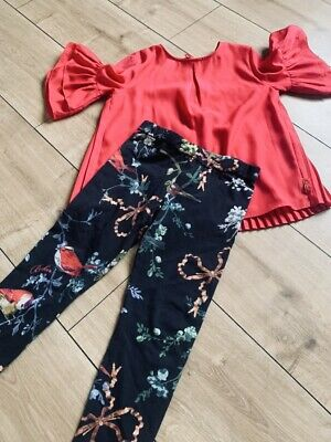 Girls Ted Baker Set Outfit Leggings And Top Age 6 (age 5-6)