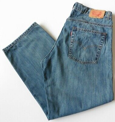 Men's Boys' Levis 550 Relaxed Fit Jeans W34 L28 Blue Levi Strauss Size 34S