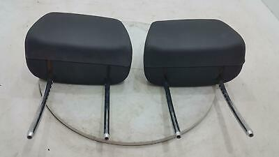 BMW 1 Series Pair Left & Right Front Black Leather & Cloth Headrest