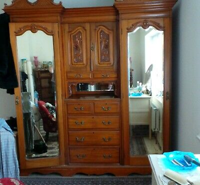 Victorian/Edwardian Compactum Wardrobe Break down