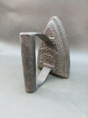 Antique or vintage cast iron flat sad iron Cranes BB 6 - doorstop or bookend