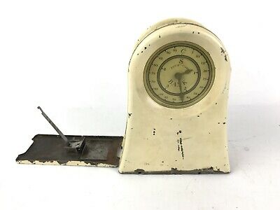 Vintage Kingsbury Four Coin Registering Clock Bank #1656