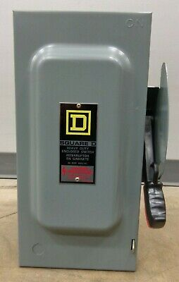 SQUARE D HEAVY DUTY ENCLOSED SWITCH H362N SERIES F1 60 AMP 600 VOLT