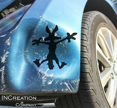 Wile E.Coyote Hitting Wall Splat Wiley Vinyl Decal Sticker Wolf Funny Car Decal