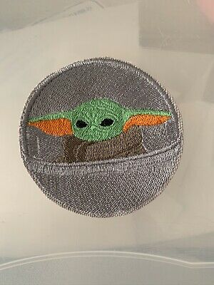 """Baby Yoda 3"""" Iron On Embroidered Patch Sew On For Jeans Backpack T-Shirt Etc."""