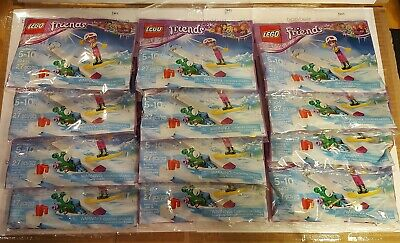 Lot of 10 birthday party favors LEGO FRIENDS WINTER SNOWBOARD TRICKS SET #30402