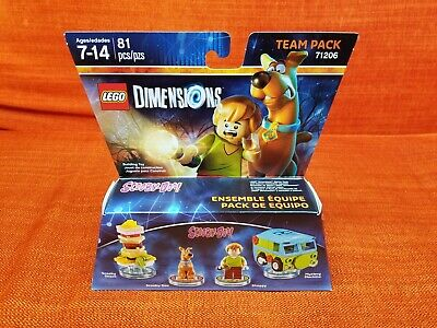 Scooby Doo + Shaggy + Snack + Mystery Machine Lego Dimensions Brand New 71206