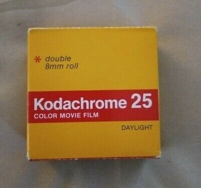 Kodachrome 25 Daylight Double 8mm roll Color Movie Film KM459 Exp Dec 1979