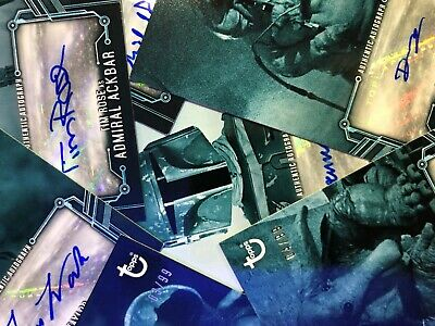2020 Topps Star Wars Return of the Jedi Black & White BLUE Auto: Pick From List
