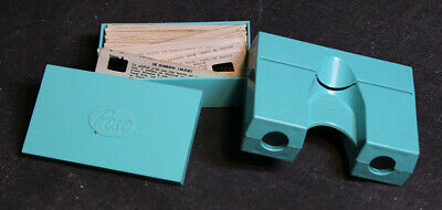 Vintage POST Mint Green Stereo Viewer & Slides