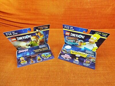 Scooby Doo + Shaggy + Snack + Homer Simpson + Taunt-O-Vision Lego Dimensions New