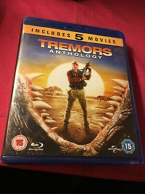 Tremors Anthology,Includes 5 Movies,Blu-Ray,New & Sealed,Cert 15