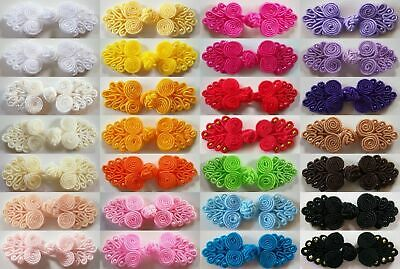 "Tree Beaded Chinese 7/8"" x 2 1/2"" Frog Button Closure 28 Colors"