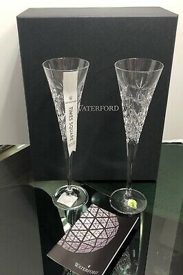 NEW Waterford Crystal 2019 Times Square Haromony Toasting Flutes Set of 2 In Box