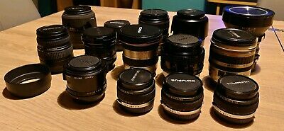 SLR lenses: Canon And Olympus (For spares only)