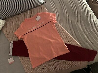 Girls Calvin Klein Pyjamas Leggings T Shirt Loungewear Age 10-11-12 BNWT