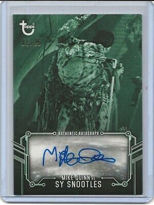 2020 Topps Star Wars Return of the Jedi B&W GREEN AUTO MIKE QUINN SY SNOOTLES