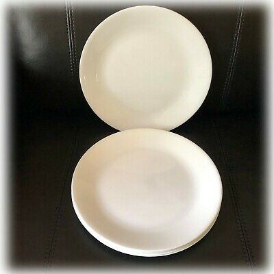 """Set of 6 CORELLE WINTER FROST WHITE 8 1/2"""" SALAD LUNCHEON PLATES Excellent"""