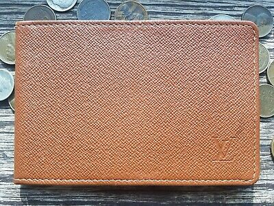 Vtg / Louis Vuitton / Brown Taiga Leather / 2 Pocket id Sleeve / Bifold Wallet