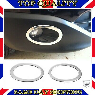 Chrome Fog Lamp Frame Trim 2 pcs S.STEEL To Fits Nissan Qashqai / +2 2010-2013