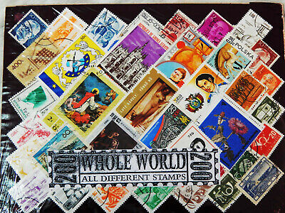 200 Different India & World Wide Stamps Off Paper Mint CTO Rare Stamps Pack