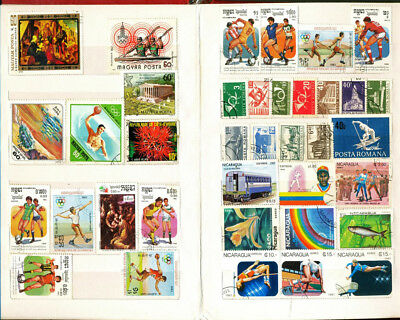Premier 200 Stamp Album stock book with 100PCS Pieces Different World Stamps lot